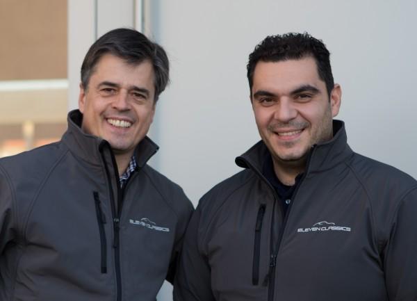 Dieter Dürr und Zoran Reckoski, Gründer und Geschäftsführer der ELEVENCLASSICS GmbH