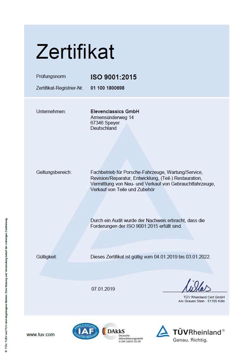 TUEV Rheinland ISO9001:2015
